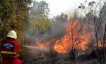 Incendio vicino al cimitero di Triora