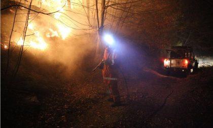 Incendio di sterpaglie a Pietrabruna in zona Polveriere