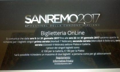 Biglietti per Festival di Sanremo: esauriti in poche ore i tagliandi validi per le prime tre serate