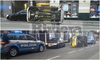 VALLECROSIA: 32ENNE SI CAPPOTTA CON L'AUTO SUL RETTILINEO DELL'AURELIA
