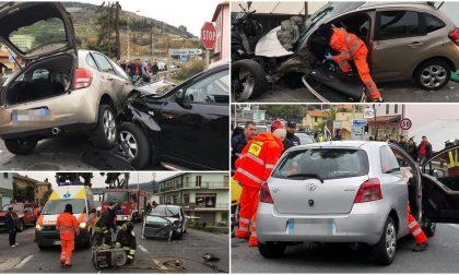 ARMA: TERRIBILE FRONTALE SULL'AURELIA/ 2 FERITI INCASTRATI NELLE LAMIERE/ TRAVOLTA UN'AUTO IN TRANSITO