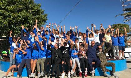 Il vescovo Suetta e i ragazzi della Canottieri di Sanremo