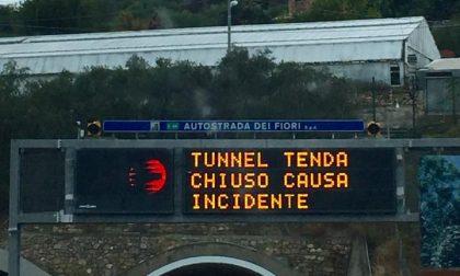 Chiusura notturna del Tunnel del Tenda per lavori
