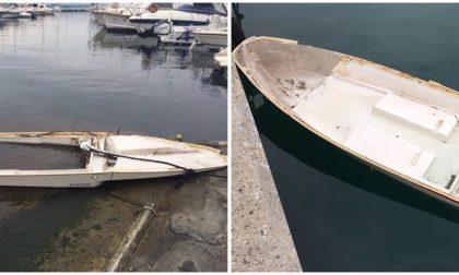 Recuperate due barche affondate dalla recente mareggiata al largo di Capo Berta