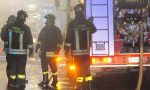 Vigili del fuoco in azione per l'incendio di un'auto a Bussana