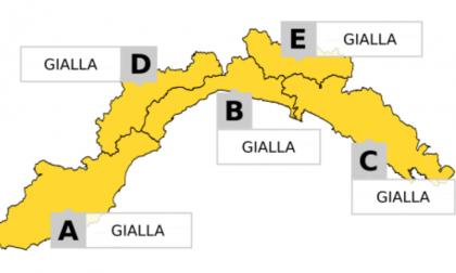 Allerta gialla su tutta la Liguria a partire dalle 14 di oggi