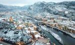 """Ventimiglia sotto la neve dagli """"occhi"""" di un drone"""