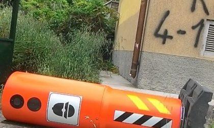 """Vandali rovesciano uno degli """"autovelox"""" di Vallecrosia Alta"""