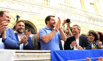 Visita lampo del leader leghista Matteo Salvini a Imperia