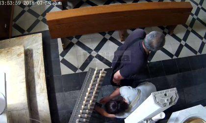 Ladri di elemosina incastrati dalle telecamere in chiesa. Ecco le immagini