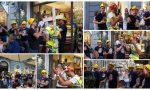 Flash mob in via Matteotti a Sanremo per l'addio al celibato di Fabio