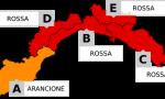 Scatta l'allerta arancione in provincia di Imperia. Rossa in Liguria