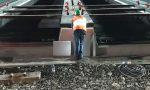 Ferrovia: ecco il varo della travata metallica sul Borghetto