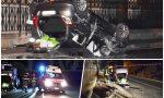 Auto cappottata con 5 a bordo: un ferito è grave. Foto