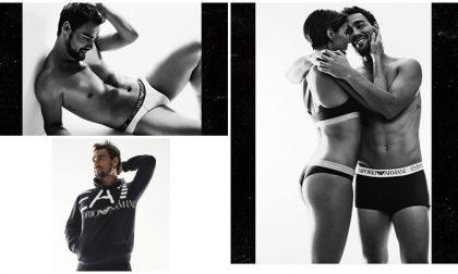 Fabio Fognini intimo uomo e Flavia in lingerie per Armani, nuovo sponsor del campione