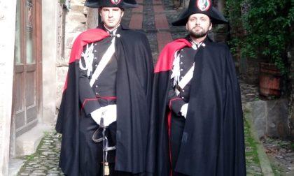Carabinieri in alta uniforme a Dolceacqua