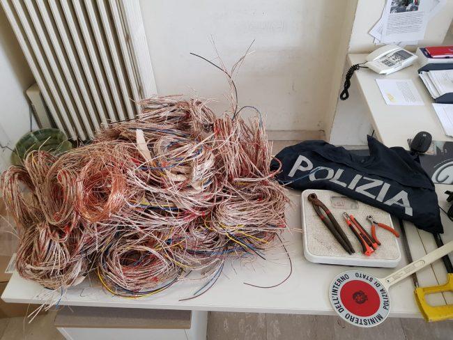Furto all&#8217&#x3B;ex stazione fermati dalla Polizia con 10 kg di rame