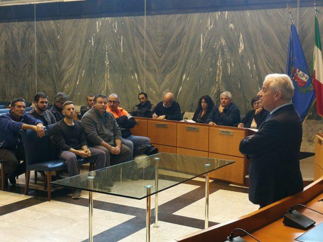 Vertice in comune tra il sindaco Scajola e i lavoratori Teknoservice