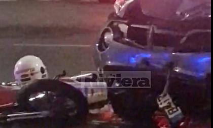 Schianto tra una moto e un suv: ferito 18enne di Bordighera. Video