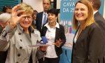 Brindisi di Banca Carige con il vice sindaco Pireri per i 25 anni della filiale di Sanremo Corso Cavallotti