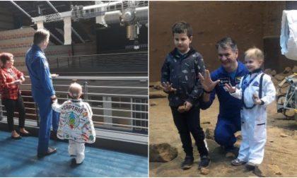 L'incredibile storia di Giacomo: a 6 anni dopo la malattia vola nello spazio con Nespoli