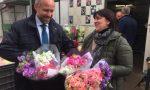 Sergio Tommasini visita il Mercato dei Fiori