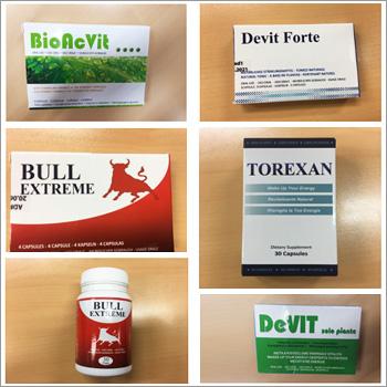 Allerta europea per sostanze non autorizzate  presenti in molti integratori alimentari
