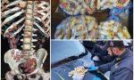 Beccato con 80 ovuli di cocaina e eroina nell'intestino