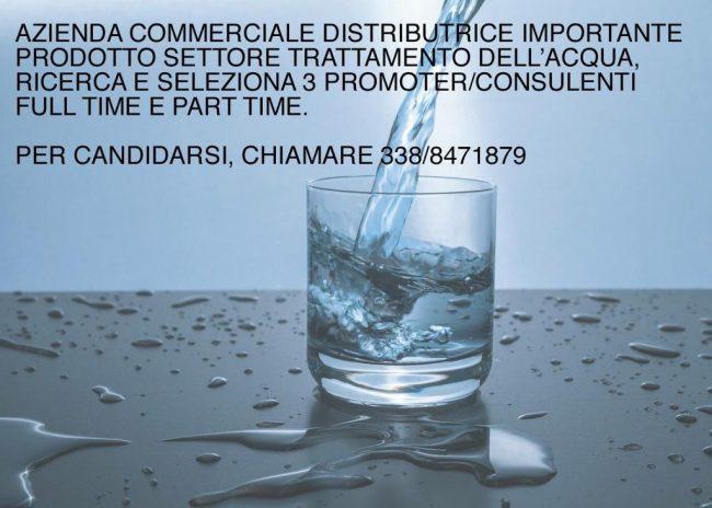 Trattamento acqua di casa, azienda cerca venditori