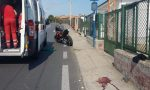 Donna falciata da una moto a Bussana: è grave