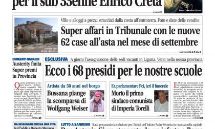 Le case all'asta di settembre, la lista dei nuovi 68 presidi e il dramma di Enrico Creta su La Riviera in edicola