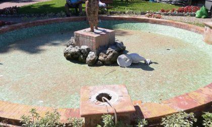 Vandalizzata la fontana del Putto a Ventimiglia