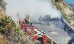 Brucia un camper: panico ai Tre Ponti di Sanremo