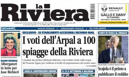 I voti alle spiagge del Ponente e le foto esclusive delle nozze di Gimondi su La Riviera in edicola