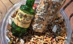 """Un """"bottino"""" di mozziconi di sigarette raccolto ieri a Bordighera"""
