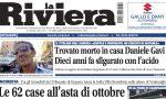 Le 62 case all'asta di ottobre e la tragedia di Daniele Gavi su La Riviera in edicola