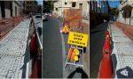 Parcheggi per disabili a Imperia, partiti i lavori in via Siffredi