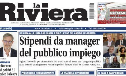 Gli stipendi dei manager pubblici e la tragedia di Roberto Vincitorio su La Riviera in edicola