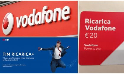 Ricarichi 10 euro? Vodafone e Tim te ne danno 9. Il resto in Giga