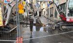 Stop per i lavori in via xxv aprile causa la rottura di un tubo