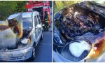 Brucia un'auto a Soldano, salvo il conducente