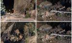 Aggiornamento: crolla la montagna in via Toscanini, tragedia sfiorata. Foto