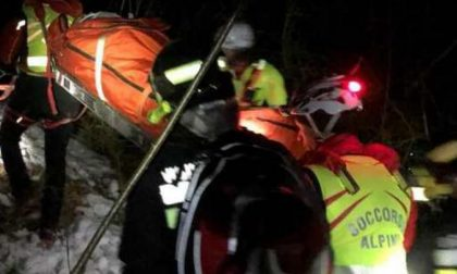Recuperata di notte l'escursionista di 33 anni scivolata sul ghiaccio