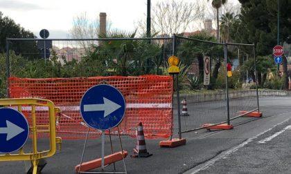 Imperia: strada asfaltata cede per ben due volte