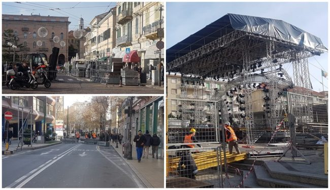 Festival di Sanremo: la città al lavoro tra strade chiuse e dehor smantellati