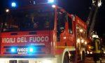 Brucia un'autorimessa in via D'Annunzio a Sanremo, sul posto i vigili del fuoco