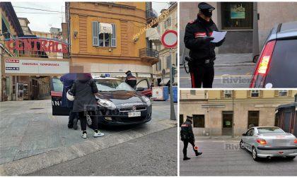 Autocertificazioni e spostamenti: controlli dei carabinieri a Sanremo
