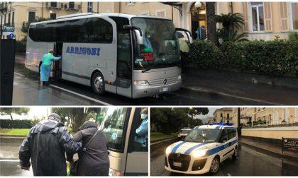Coronavirus a Diano: partito il trasferimento dei 48 turisti bergamaschi