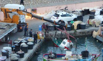 Peschereccio affonda in porto a Bordighera, ma è salvo. Foto e Video