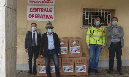 Alpini donano respiratori e oltre mille kit all'ASL 1 imperiese